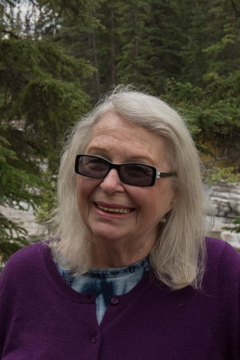 Patricia at Maligne Canyon in Jasper